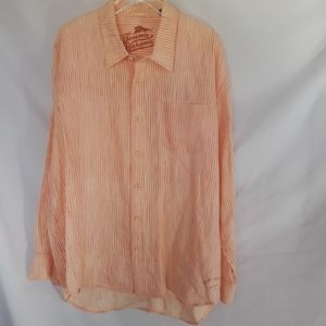 Tommy Bahama 100% Linen Stripped Shirt Size XXL